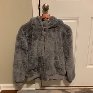 Lucky Brand Faux Fur Bomber Jacket Luxe Luxe Luxe!